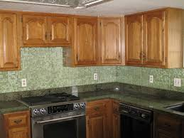 Pictures Of Kitchen Backsplashes With Tile by Mosaic Kitchen Tile Backsplash With Brown Cabi Backsplash Kitchen