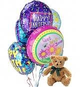 balloons and bears delivery birthday balloons 4 mylar balloons delivered