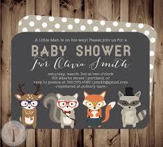 forest friends baby baby shower invitation baby shower invite