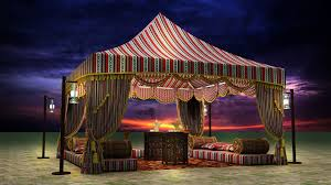 arabian tents 3d arabic tent cgtrader
