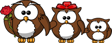 clipart family of owls