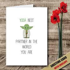 yoda valentines card yoda novelty joke greeting gift