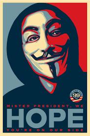v for vendetta mask shepard fairey designs occupy poster replaces obama s