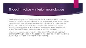 Examples Of Interior Monologue Sound By Veronika Pumputyte Diegetic And Non Diegetic Sound