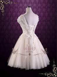 vintage inspired short tea length lace wedding dress rosie