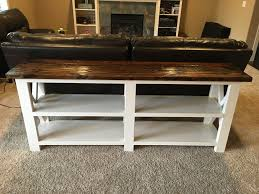 Diy Entry Table by Ana White X Console Sofa Table Diy Projects Entry Table