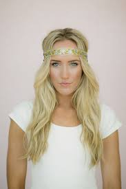 hippie bands boho headband beaded hair bands with sequin and floral beaded