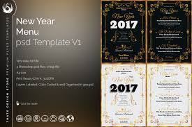 photoshop menu template new year menu template psd to customize with photoshop v1 menu