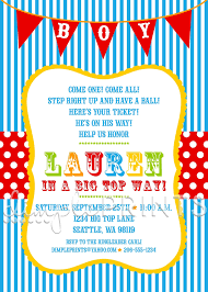 circus baby shower circus carnival shower invitation dimple prints shop