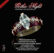 Gothic Wedding Rings by Second Life Marketplace Exquisite Gothic Night Engagement Ring