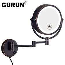 online get cheap 10x magnification lighted makeup mirror