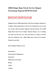 2004 dodge ram truck service repair workshop manual download