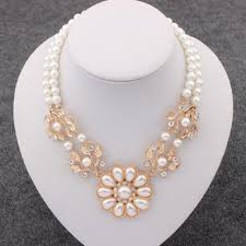 fashion jewelry pearl necklace images Pearl necklacegold beads choker necklaces statement jewelry 2016 jpg