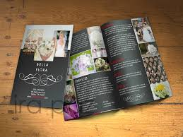 wedding planner career bifold brochure created for a wedding planning business for