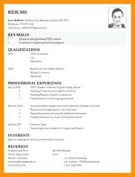 application resume format application resume template resume letter for college