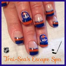 edmonton oilers colors u0026 logo nail art gallery