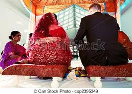 Indian Wedding Chairs For Bride And Groom Stock Photographs Of Indian Wedding Ceremony Bride And Groom