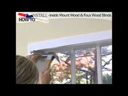 How To Shorten Blinds From Home Depot How To Install Inside Mount Horizontal Window Blinds Youtube