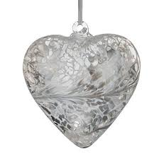 Heart Home Decor Silver Heart Home Decor Amazon Co Uk