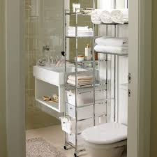 Bathroom Storage Chrome Chrome Varnished Console Bathroom Storage Idea Toilet And