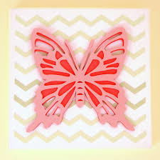 butterfly 3d paper wall art canvas 30cm x 30cm for a baby or