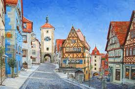 paint places rothenburg germany painting mike rabe art paintings prints