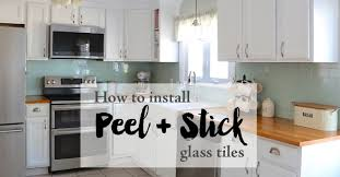 how to install a glass tile backsplash in the kitchen installing peel and stick glass tiles weekend craft