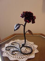 metal roses this i would beauty n the beast forged metal