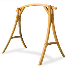 swing stand frame the arched cypress swing stand hammacher