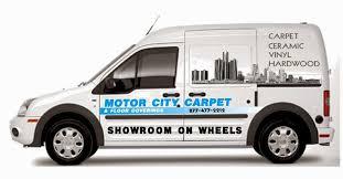 mobile showroom motor city carpet flooring warren rochester mi