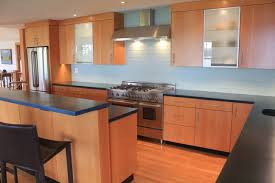 douglas fir kitchen cabinets modern kitchen with douglas fir veneer and concrete counter tops