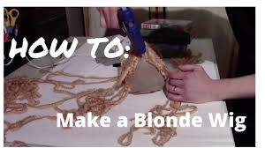 halloween blonde wig how to make a wig for halloween easy long hair youtube