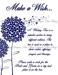 Wedding Wishes Tree Printable Dandelion Wedding Wish Tree Instructions Sign Any Color