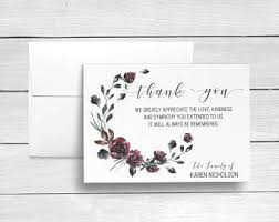 thank you cards for funeral funeral thank you etsy