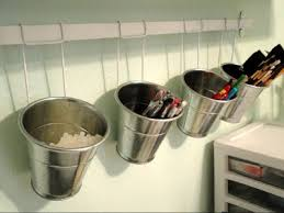 ikea kitchen organization ideas buckets and rail from ikea kitchen department use some antiques