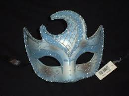 moon mask blue crescent moon mask mardi gras masquerade
