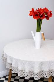 Round Kitchen Table Cloth by Elegant Round White Lace Tablecloth Kitchen Linen Dining Table