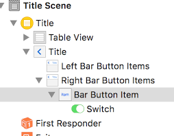 ios add a switch to navigation bar using storyboard stack overflow