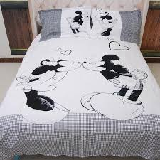 Mickey And Minnie Comforter Wongsbedding White Horse Bed Set New Syle High Quality Bedding