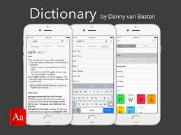 dictionary app for ios template sketch freebie download free