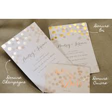 faire part mariage luxe faire part chagne dorure wedding card and weddings