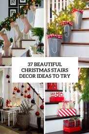 Christmas Railing Decorations 37 Beautiful Christmas Staircase Décor Ideas To Try Digsdigs