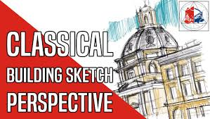 how to sketch a renaissance building architecture perspective