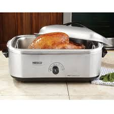 Toaster Oven Turkey 18 Qt Roaster With Stainless Steel Cookwell Body U0026 Lid