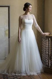 14 incredible illusion neckline wedding dresses illusion