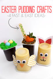 easter pudding cup craft ideas with snack pack child at heart blog