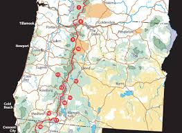Oregon Trail Maps by Pacific Crest National Scenic Trail National Scenic And Historic