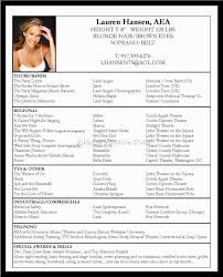 Actor Resume Format Best Acting Resume Example Acting Resume Template Sample Resume
