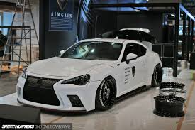 frs with lexus bumper through the doors of the tokyo auto salon speedhunters