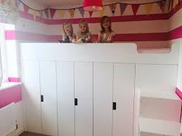 storage beds ikea hackers and beds on pinterest loft bed stuva hack bed with storage ideas for the house ikea hack